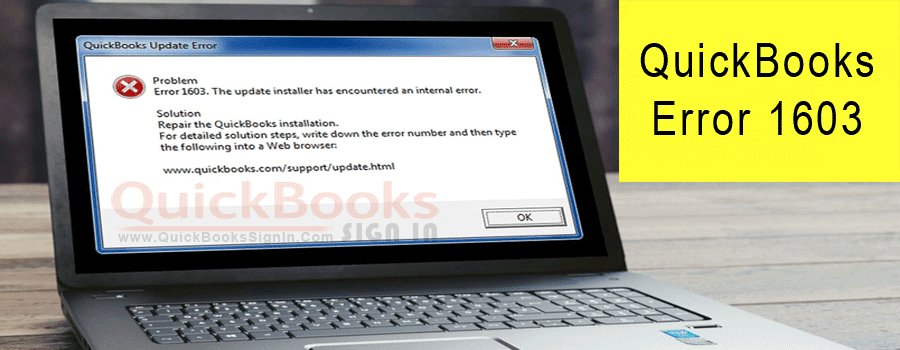 QuickBooks Error 1603 – Fix & Support