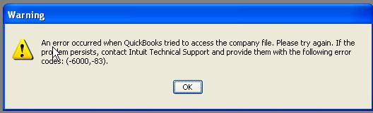 QuickBooks 6000 83 - How To Fix (Solved)
