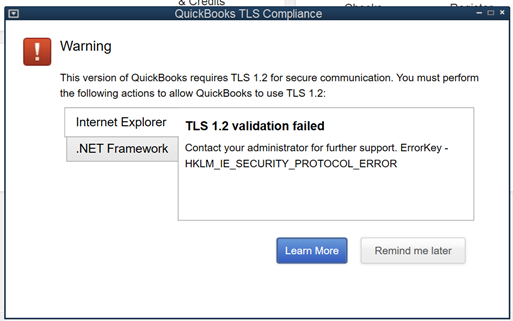 How to fix QuickBooks TLS compliance issue